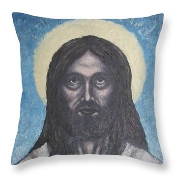 Gothic Jesus Throw Pillow