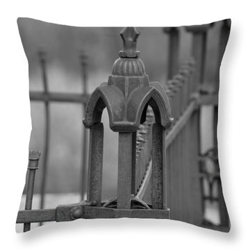 Gothic Ornamental Fence In Boothill Throw Pillow