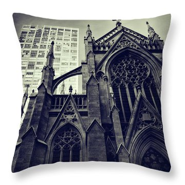 Throw Pillow featuring the photograph Gothic Perspectives by Jessica Jenney