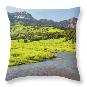 Gothic Valley - Early Evening Throw Pillow