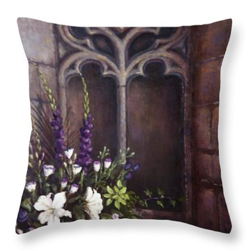 Gothic Wedding Bouquet Throw Pillow by Sean Conlon
