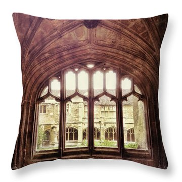 Gothic Window Throw Pillow by Jill Battaglia