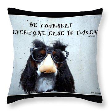 Gotta Love Em Throw Pillow by Irma BACKELANT GALLERIES