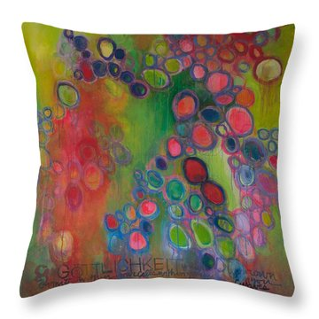 Throw Pillow featuring the painting Gottlichkeit by Laurie Maves ART