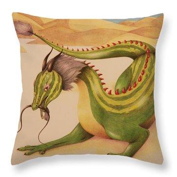 Gourd Dragon Throw Pillow