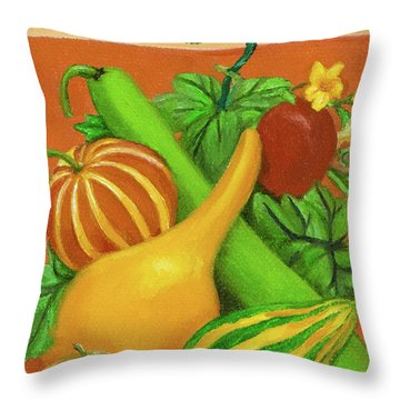 Gourds Orange No Letterings Throw Pillow