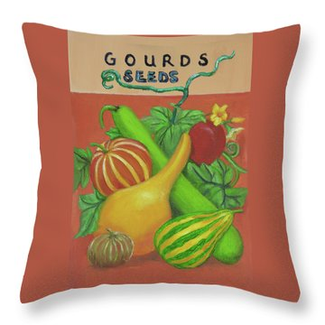 Gourd Orange Throw Pillow