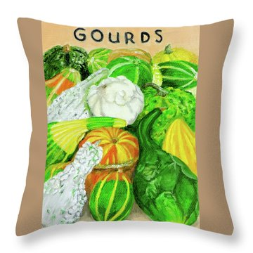 Gourd Seed Packet Throw Pillow
