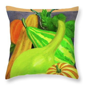 Gourds Purple No Lettering Throw Pillow