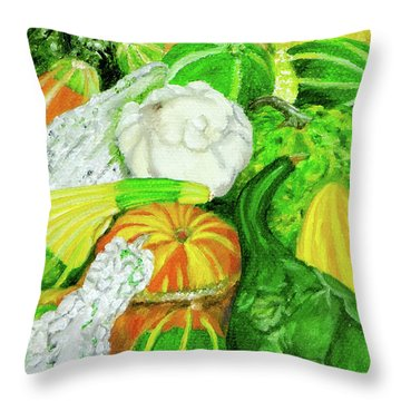 Gourds Seed Packet No Lettering Throw Pillow