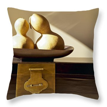 Gourds Still Life II Throw Pillow by Kyle Rothenborg - Printscapes