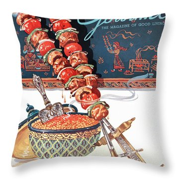Gourmet Magazine September 1948 Throw Pillow