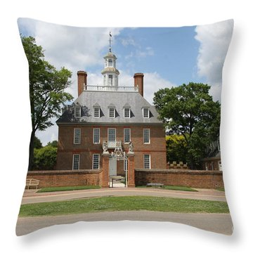 Governers Palace - Williamsburg Va Throw Pillow