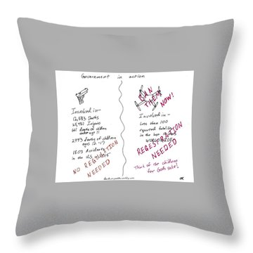 Government Inaction Throw Pillow by David S Reynolds
