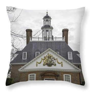 Governors Palace Back Door 01 Throw Pillow