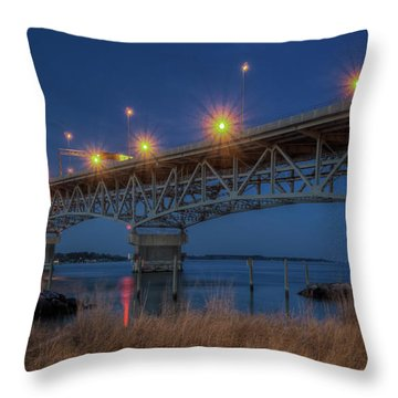 G.p. Coleman Bridge Throw Pillow