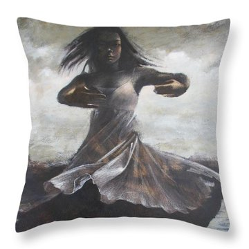 Grace And Movement Throw Pillow