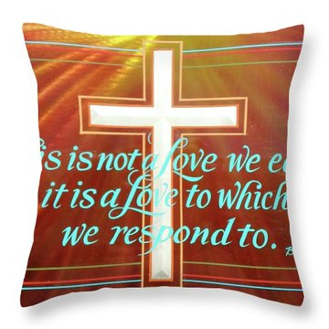 Throw Pillow featuring the painting Grace  by Alan Johnson