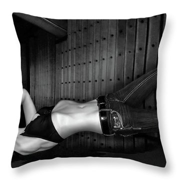 Grace And Steel - Self Portrait Throw Pillow