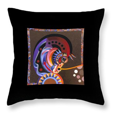 Throw Pillow featuring the painting Grace by Bob Coonts