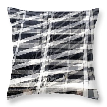Grace Building Collage 2 Throw Pillow