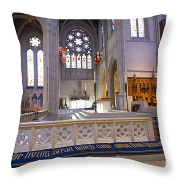 Grace Cathedral Altar Throw Pillow by David Bearden