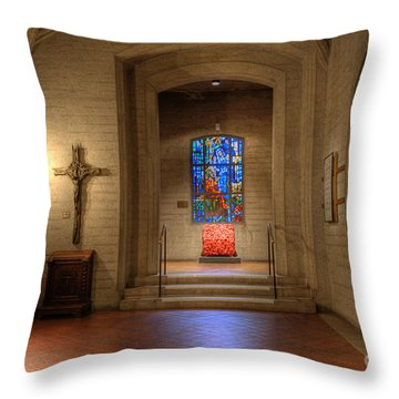 Grace Cathedral Side Altar Throw Pillow