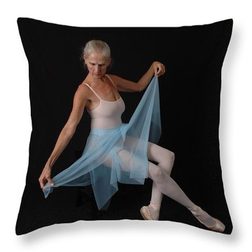 Throw Pillow featuring the photograph Grace In Blue by Nancy Taylor