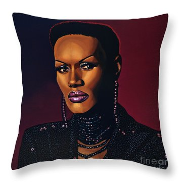 Grace Jones Throw Pillow