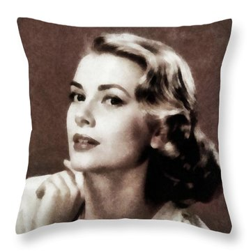 Grace Kelly, Actress, By Js Throw Pillow