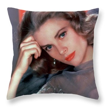 Grace Kelly Throw Pillow by American School