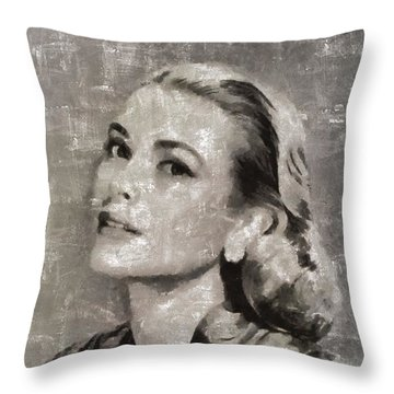 Grace Kelly By Mary Bassett Throw Pillow