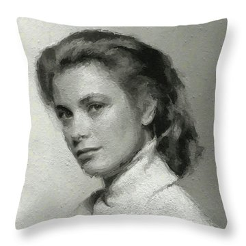 Grace Kelly, Vintage Actress Throw Pillow