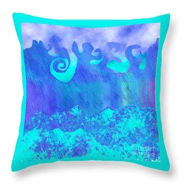 Grace Of Rain Throw Pillow