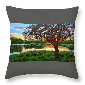 Grace Sunrise Throw Pillow