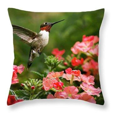 Graceful Garden Jewel Throw Pillow