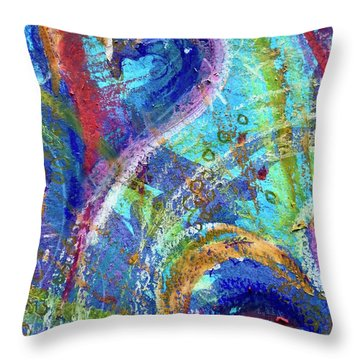 Graceful Hearts Throw Pillow