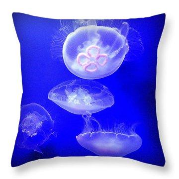 Graceful Jellies - Ballerinas Of The Sea Throw Pillow