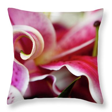 Graceful Lily Series 25 Throw Pillow by Olga Smith