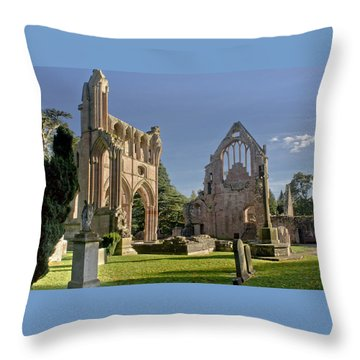 Graceful Ruins. Dryburgh Abbey. Throw Pillow