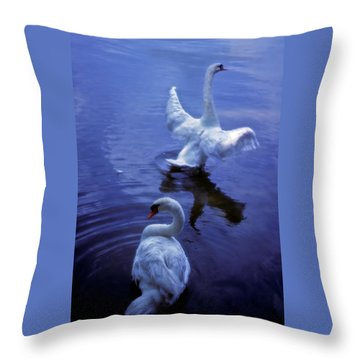 Graceful Swans Throw Pillow