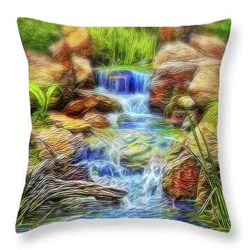 Graceful Waters Throw Pillow