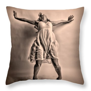 Gracefully Falling Throw Pillow