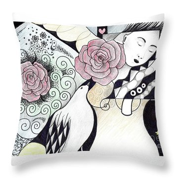 Gracefully - In Color Throw Pillow