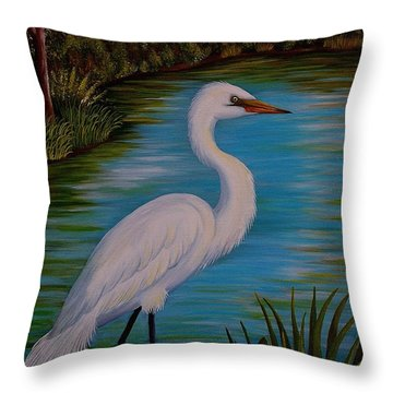 Gracefully Waiting Throw Pillow