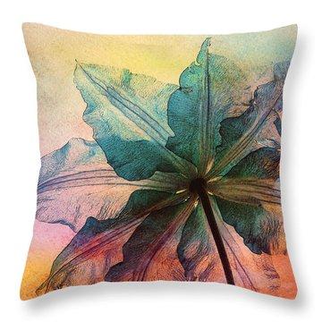 Throw Pillow featuring the digital art Gracefulness by Klara Acel
