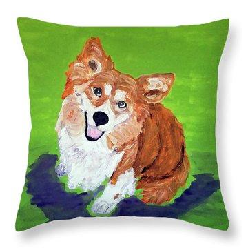 Gracie_dwp_may_2017 Throw Pillow