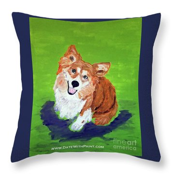 Gracie_dwp_may_2017 Throw Pillow