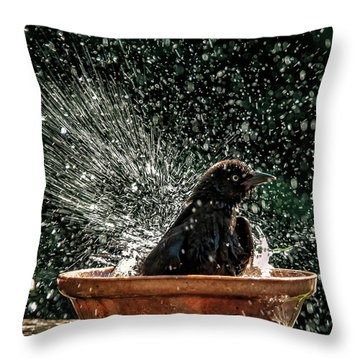 Grack Bath Flower Pot Throw Pillow