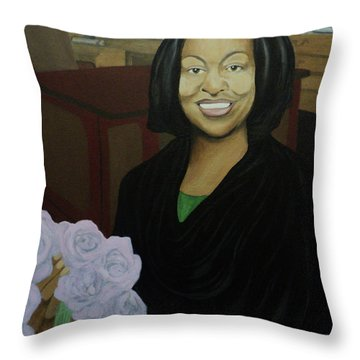 Graduate Beauty Throw Pillow